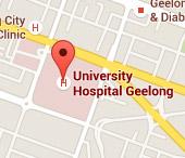 Map Thumbnail University Hospital Geelong