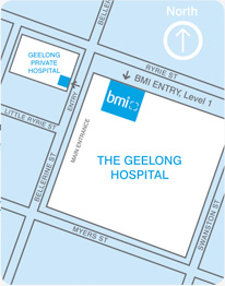 Geelong Hospital Map